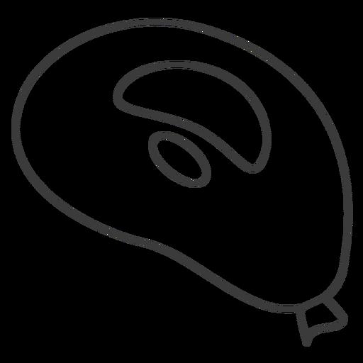 Sack spot bag stroke Transparent PNG