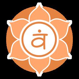 Símbolo do círculo de chakra sacral