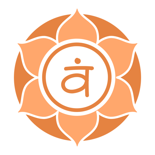 Sacral chakra circle symbol Transparent PNG