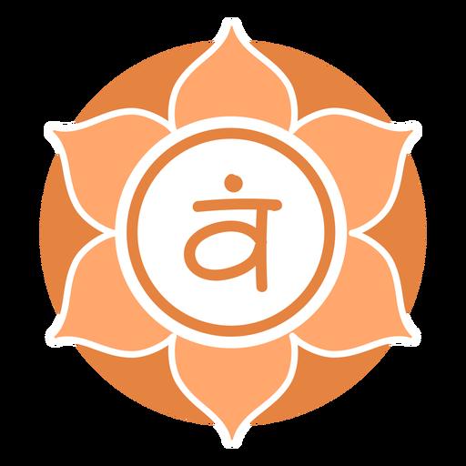Símbolo do círculo do chakra sacral