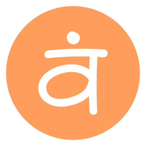 Sacral chakra icon - Transparent PNG & SVG vector