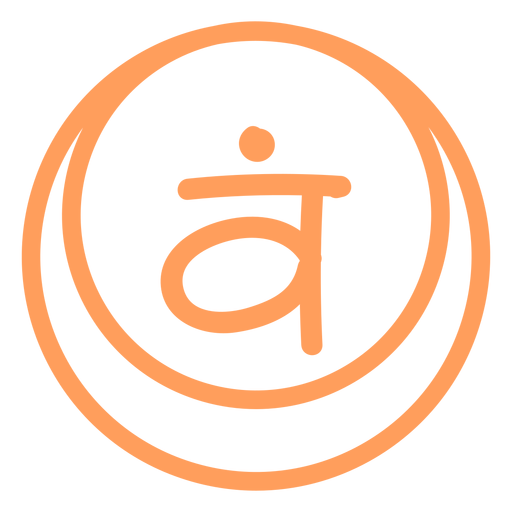 Sacral chakra line icon