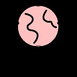 Icono de pantalla de la computadora de trazo