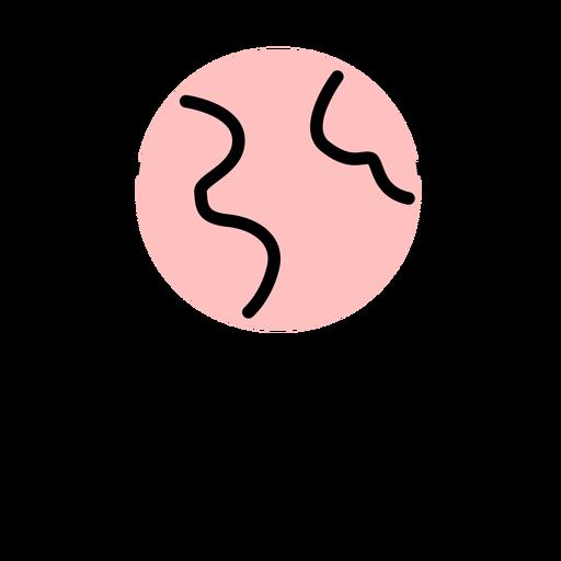 Icono de pantalla de la computadora de trazo Transparent PNG