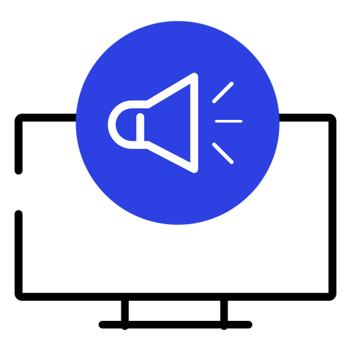 Screen icon sound loudspeaker computer stroke
