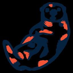 Sea otter duotone