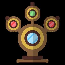Semáforo circular señal plana