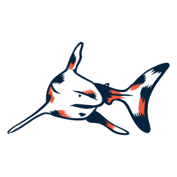 Tiburon nadando duotono