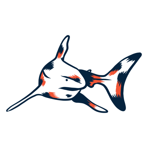 Shark swimming duotone Transparent PNG