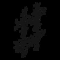 Strudel des musikalischen Symbols des scharfen Schlüssels