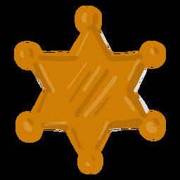 Insignia de sheriff vaquero