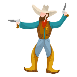 Sheriff with two guns