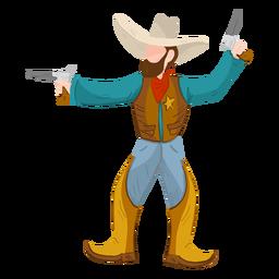 Xerife com duas armas