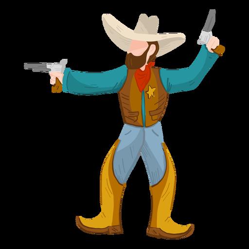 Sheriff con dos pistolas Transparent PNG