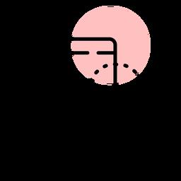 Curso de mão de ícone de smartphone