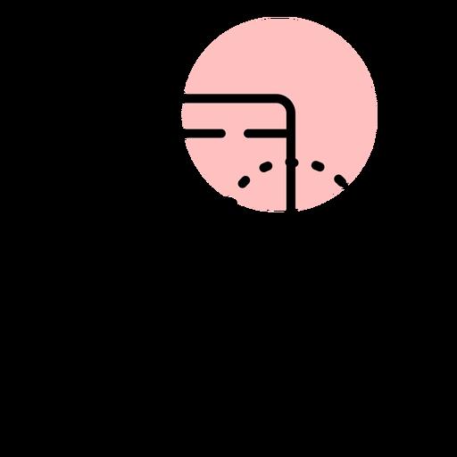 Curso de mão de ícone de smartphone Transparent PNG