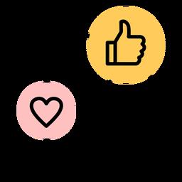 Icono de teléfono inteligente como corazón