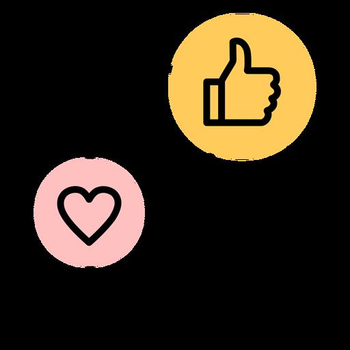 Ícone de smartphone em forma de coração