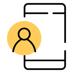 Curso de conta de usuário do ícone de smartphone