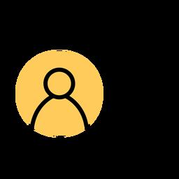 Icono de teléfono inteligente golpe de cuenta de usuario