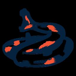 Serpiente mordiendo duotono
