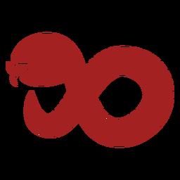 Reptil serpiente torciendo la silueta de la astrología china