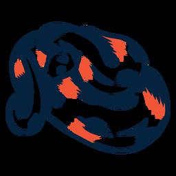 Serpiente enrollada duotono