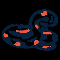 Schlange droht Duoton