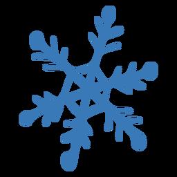 Pegatina hexagonal de cristal de copo de nieve
