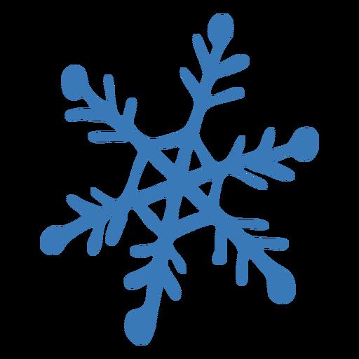Snowflake crystal pattern hexagon sticker Transparent PNG
