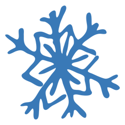 Snowflake pattern crystal hexagon sticker