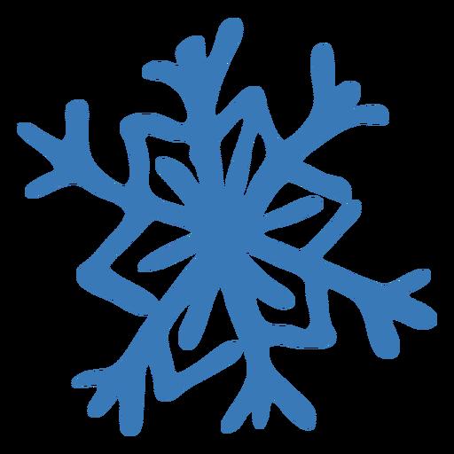 Pegatina hexagonal de cristal de copo de nieve Transparent PNG