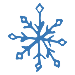 Schneeflocke Muster Kristall Aufkleber