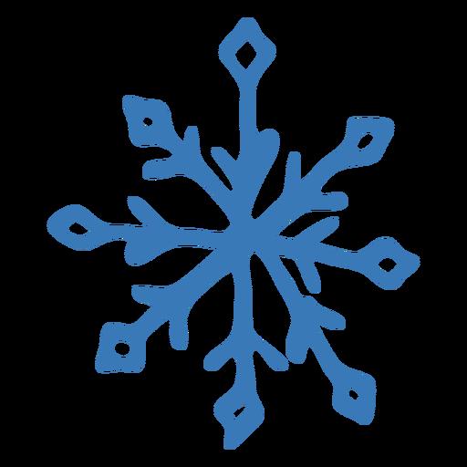 Adesivo de cristal de padrão de floco de neve Transparent PNG