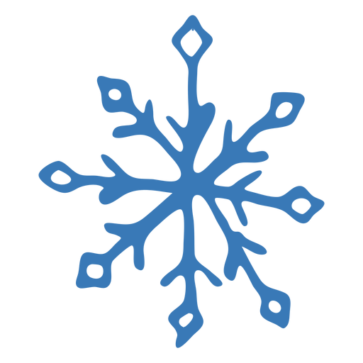 Snowflake pattern crystal sticker Transparent PNG