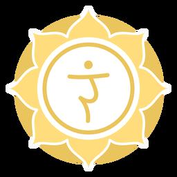 Símbolo del círculo del chakra del plexo solar