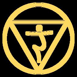 Icono de línea de chakra del plexo solar