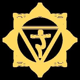 Solar plexus chakra symbol