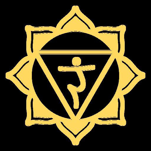 Símbolo do chakra do plexo solar