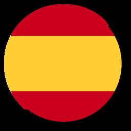 Círculo do ícone do idioma da bandeira da Espanha