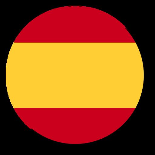 Círculo de ícone de bandeira de língua de Espanha Transparent PNG