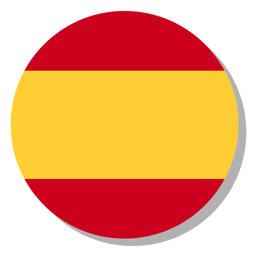 Spain flag language icon circle Transparent PNG