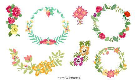 Vector libre de fronteras florales