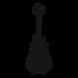 Redemoinho de instrumento musical de guitarra espanhola