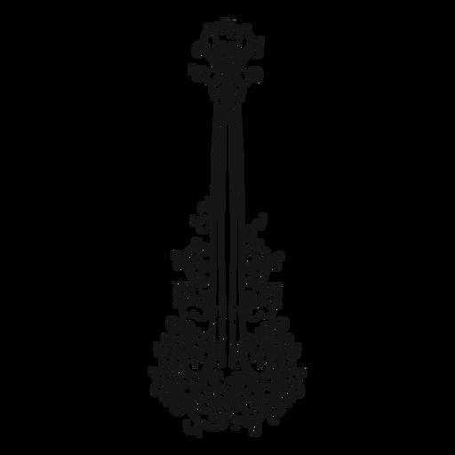 Spanish guitar musical instrument swirl Transparent PNG