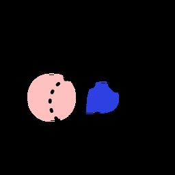 Icono de tableta pincel punto trazo de pintura