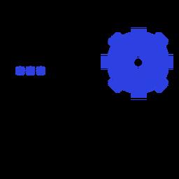 Trazo de configuración de información del icono de la tableta