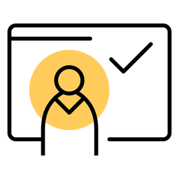 Trazo de cuenta de usuario de icono de tableta