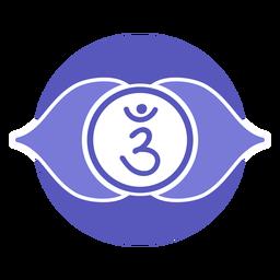 Símbolo del círculo chakra del tercer ojo