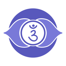 Third eye chakra circle symbol